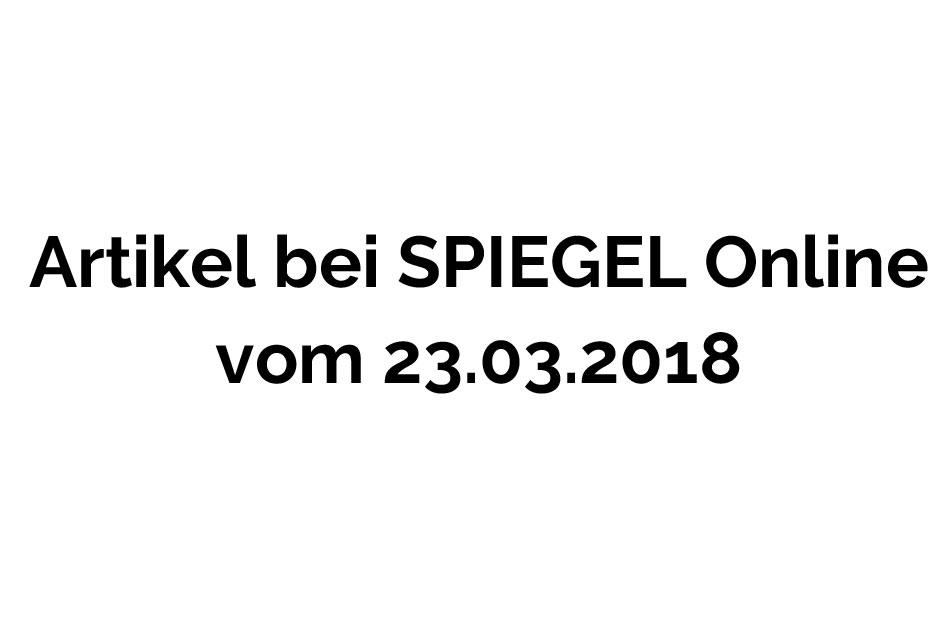 SPIEGEL Online 23.03.2018