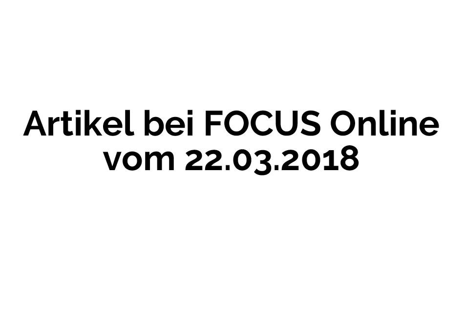 FOCUS Online 22.03.2018